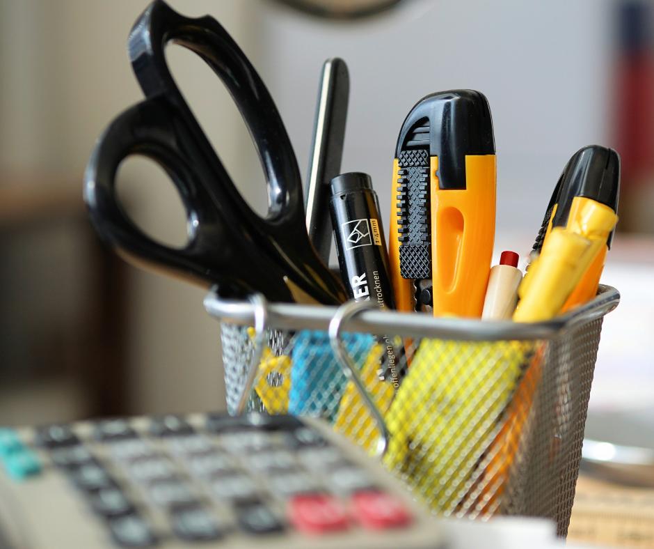 stationery desk essentials