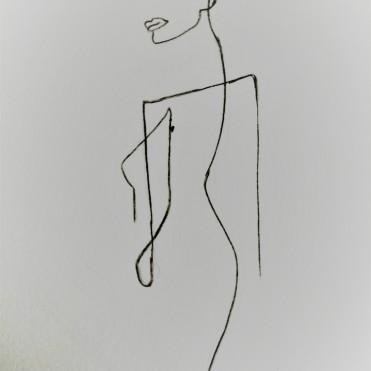 easy line art of women
