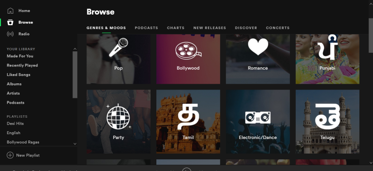Spotify - productive app